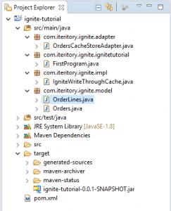 Apache Ignite Sample Program Project Structure