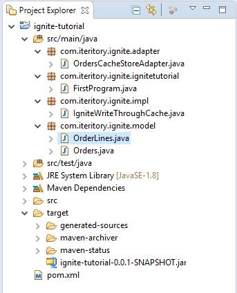 Apache Ignite write through database caching