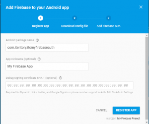 firebase-project-add-package