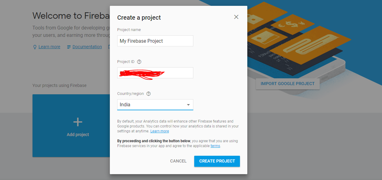 firebase-project-creation