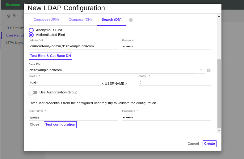 ibm-apic-apim-ldap-configuration-test-result