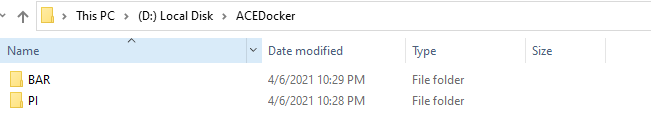 ACEDocker Folder Structure