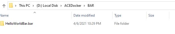 BAR Folder Structure