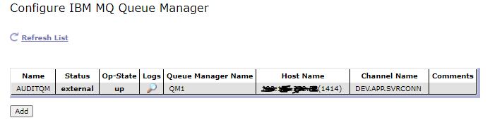 IBM MQ Queue Manager Object