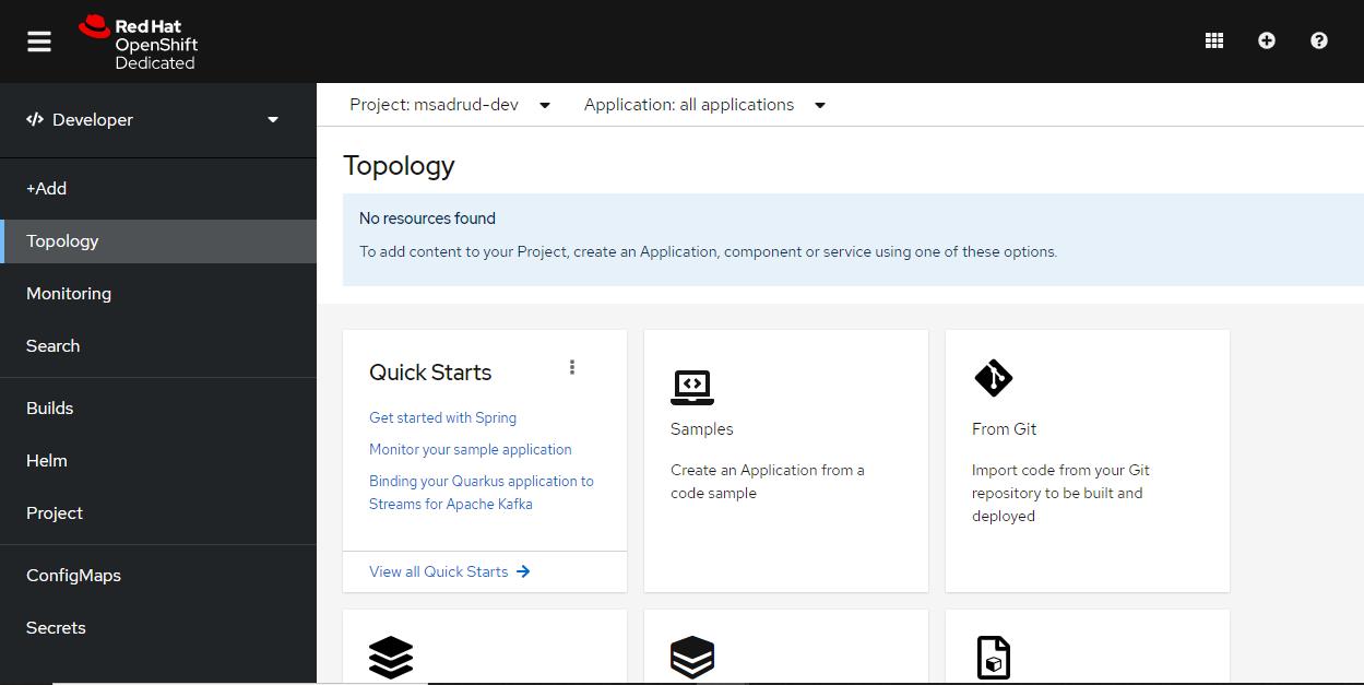 red hat openshift developer sandbox home page