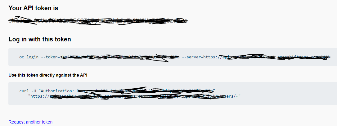 red hat openshift developer sandbox oc cli token